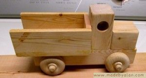 This Is How To Build A Simple Wood Toy Truck From Pine 2x4 Plans And Drawings Are Included Good For Charity Builds