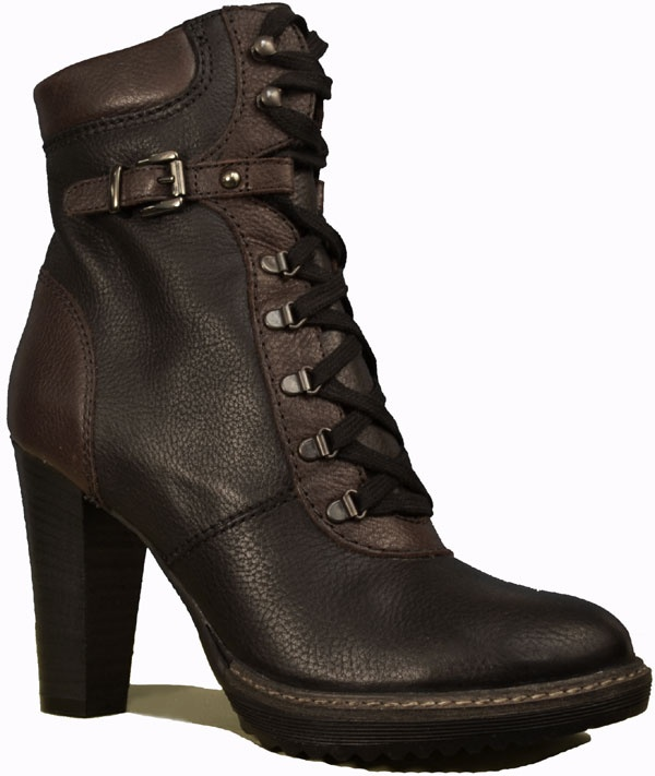Lace up fun, classy style in this ankle boot by Ingledew's. Features a rubber sole with good tread for grip, full leather lining, a cushioned leather insole, and soft leather uppers with lacing for a custom fit. Made in Europe.