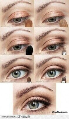 Make up idea for greenish-blue eyes