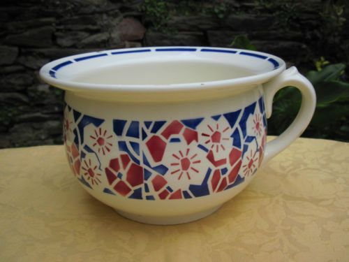 vase de nuit ou pot de chambre ancien en badonviller france jardini re sarreguemines digoin. Black Bedroom Furniture Sets. Home Design Ideas