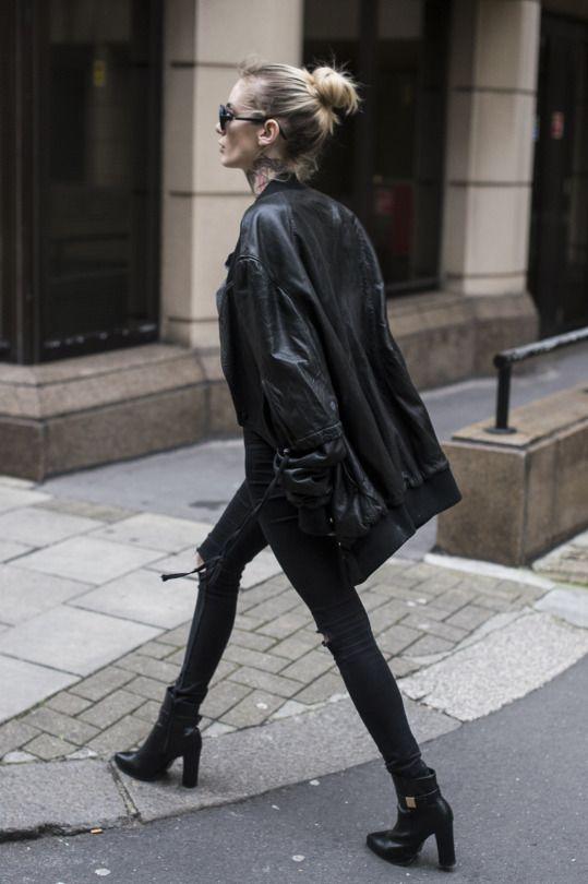 //pinterest @esib123 // #style #inspo #fashion all black outfit