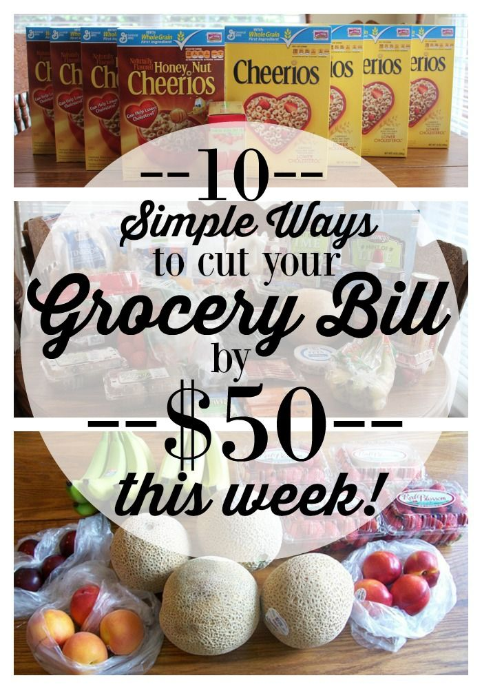 Trying to cut your grocery expenses? These 10 ideas are SO simple and easy to put into place right away!