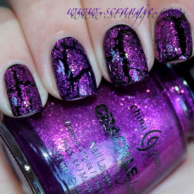Glitter crackles?! These are crackles that I could go for.Glammor, Nails Art, Nails Glam, Beautiful Nails, Jb Nails, Glitter Nails, Awsome Nails, Nails Polish, Crackle Polish