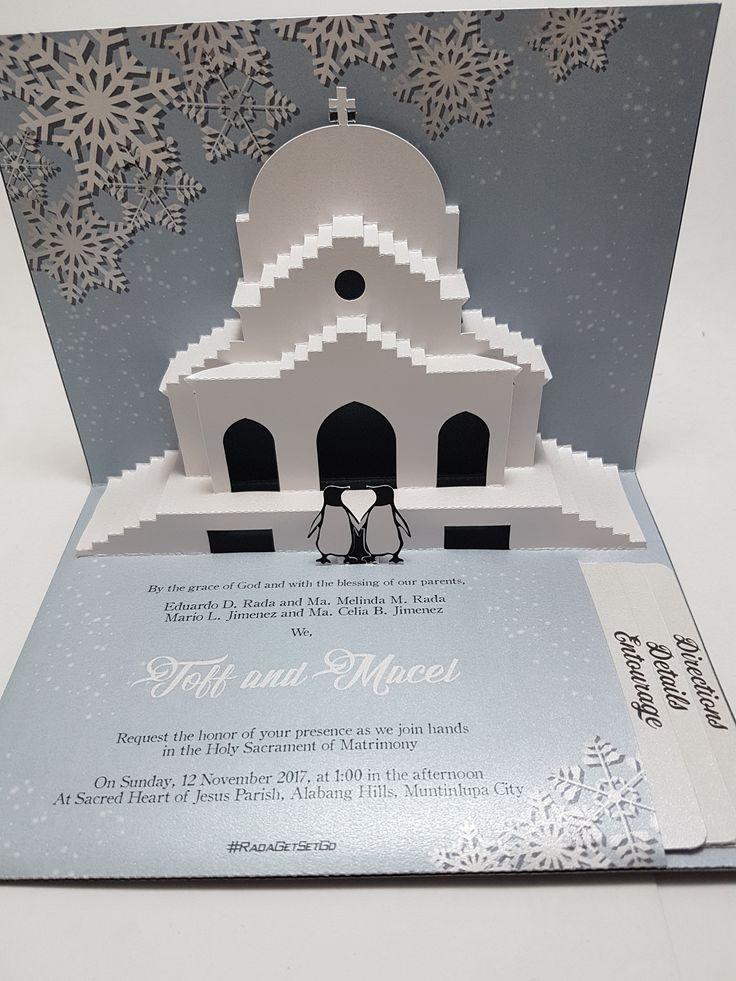 wedding invitation decoration clip art%0A Church silhouette with penguin