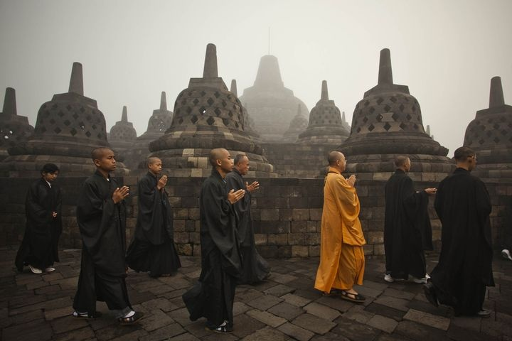 Borobudur. one of the most impressive buddhist temples, this one is in Indonesia. DEFINITELY  a MUST on my Bucket List!