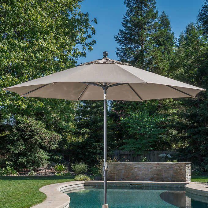 Proshade 10 Auto Tilt Aluminum Umbrella Patio Patio Umbrellas Blue Patio