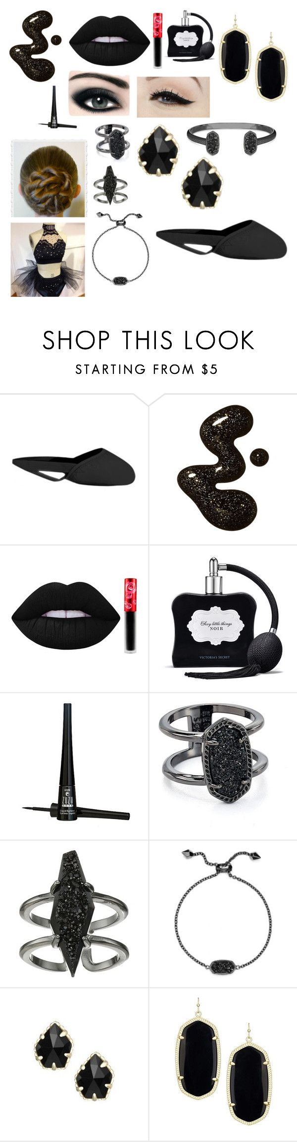 """""""Goth Dance"""" by cutekj103 ❤ liked on Polyvore featuring Lime Crime, Victoria's Secret, Max Factor, Anatomy Of, ZuZu Luxe and Kendra Scott"""