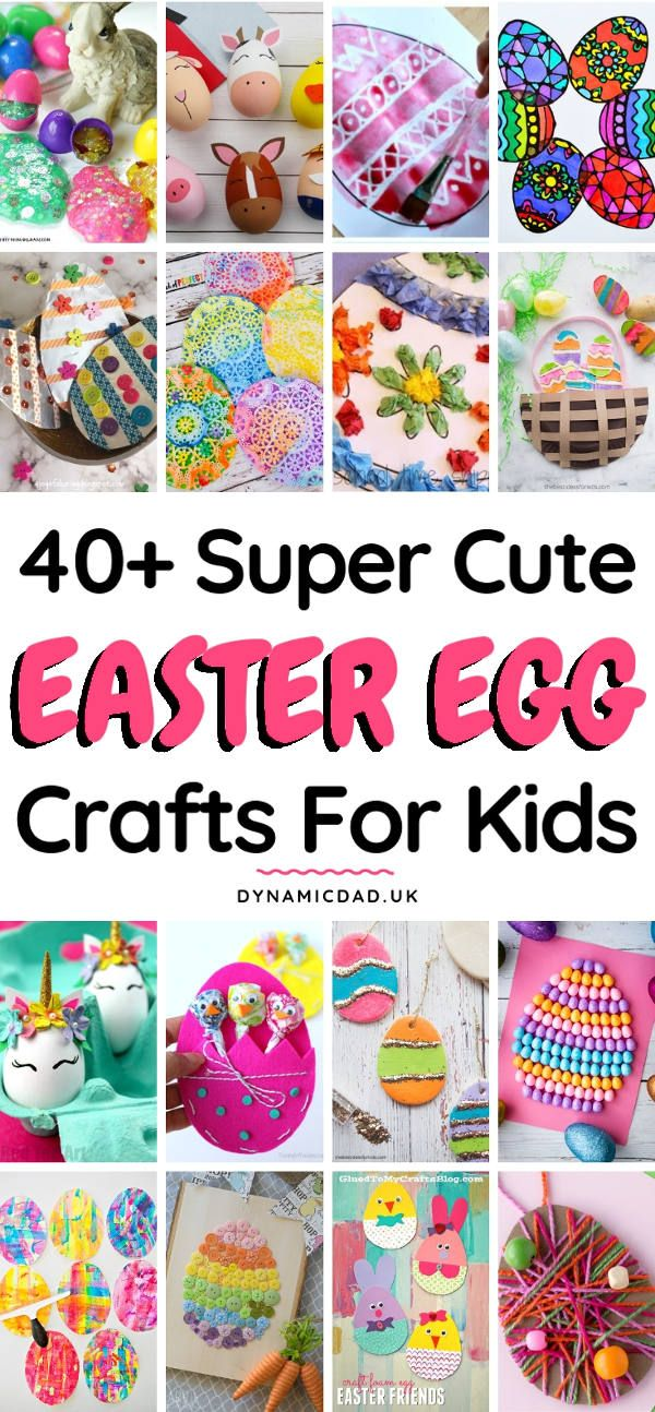 40 Eggciting Easter Egg Crafts For Kids Easter And Spring