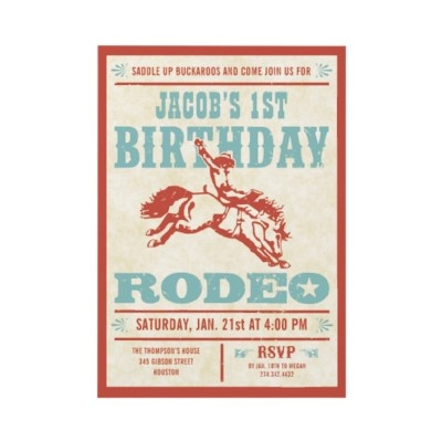 Cowboy Birthday Rodeo Party Invitations by Western_Invitations