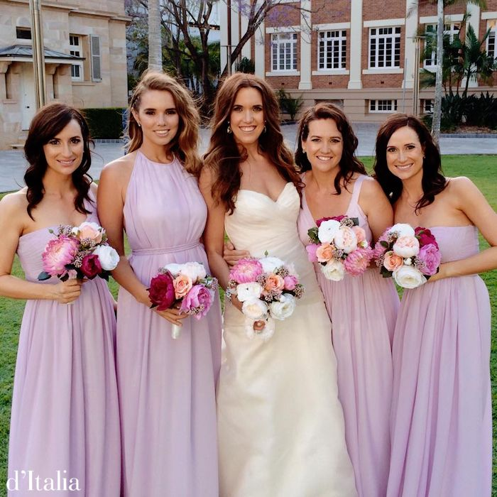 At d'Italia we specialise in bridal couture and custom bridesmaids gowns.   Visit us: www.ditalia.com.au  #bridesmaids #bridal #melbournewedding #ditalia #couture