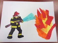 fireman crafts for preschoolers | water safety crafts, firefighter craft, firefighter preschool crafts