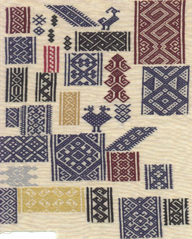This is a Mamluk-style pattern-darning sampler, worked in silk floss on linen.