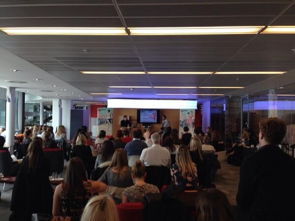 Our own James Coleman posted this pic of the Radio seminar at the BBC . #RadioPR #DecentExposure