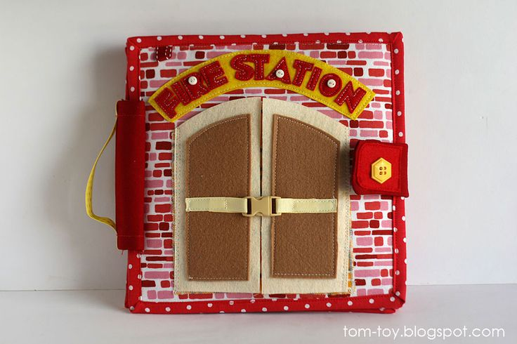 Fire station quiet busy book for boys, pretend play, развивающая книжка пожарная станция