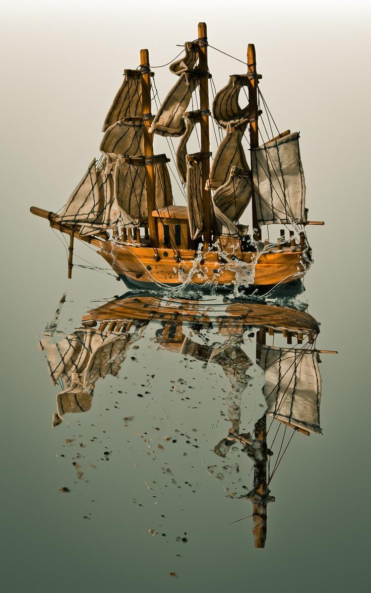 boat - splash