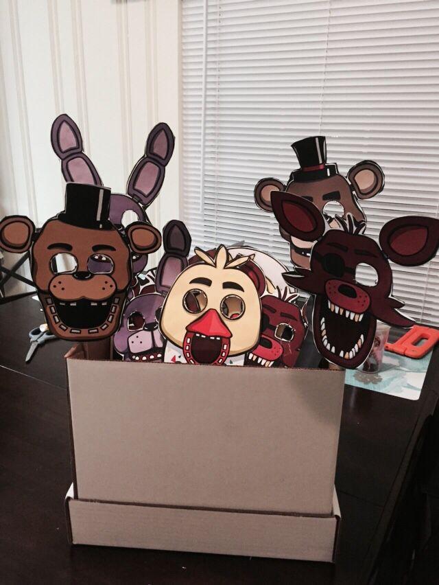 FNAF masks! Five nights at Freddy's birthday party