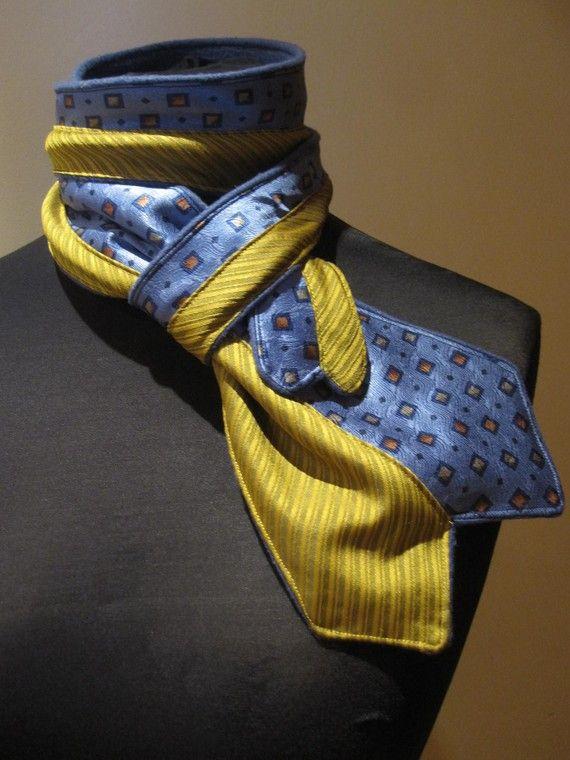 Écharpe en polaire cravates réorientés en par GarageCoutureClothes