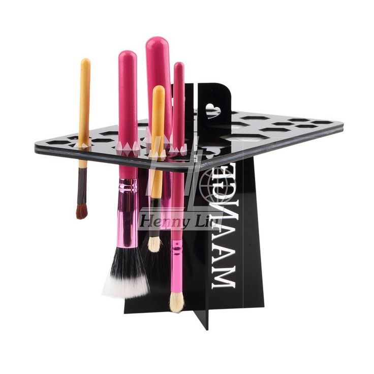 Folding Collapsible Air Drying makeup brushes holder tree dry brush hold brushes accessories aside hang tools for makeup brushes