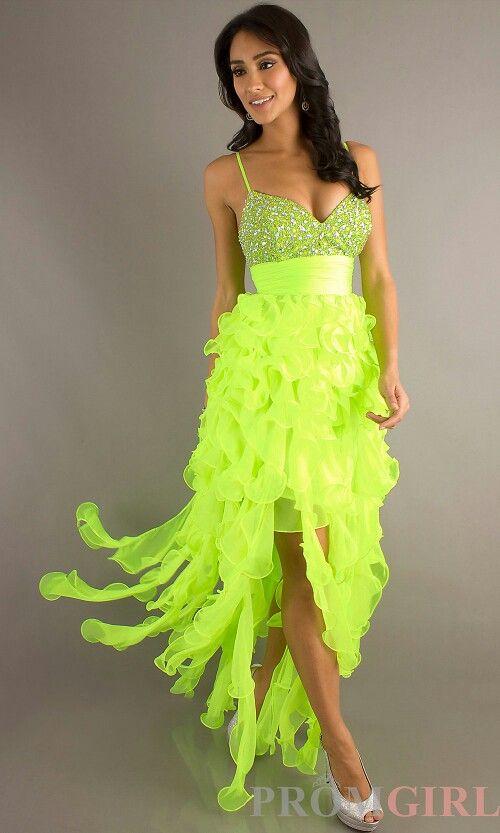 Neon green dress!!
