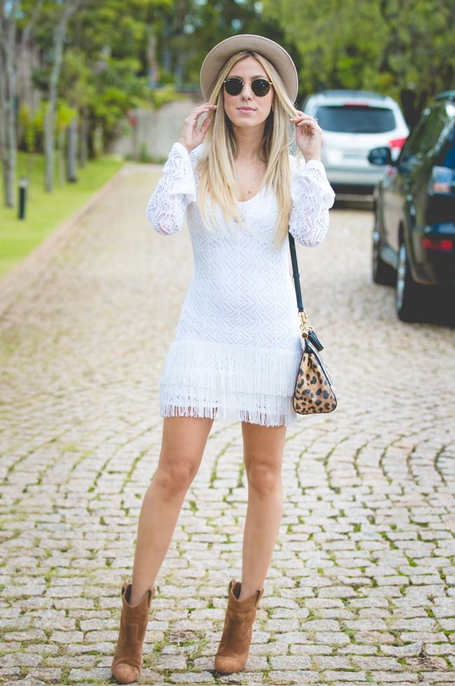 LOOK DO DIA VESTIDO DE FRANJA