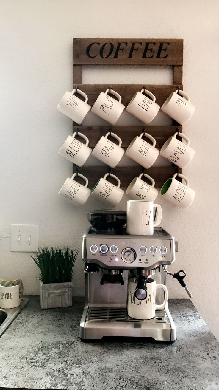Rae dunn coffee mug display