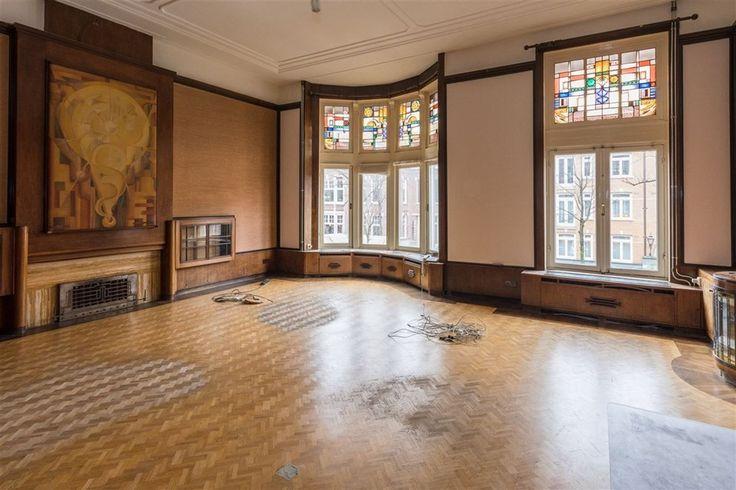 Prins Hendriklaan 30, Amsterdam woonkamer Amsterdamse School