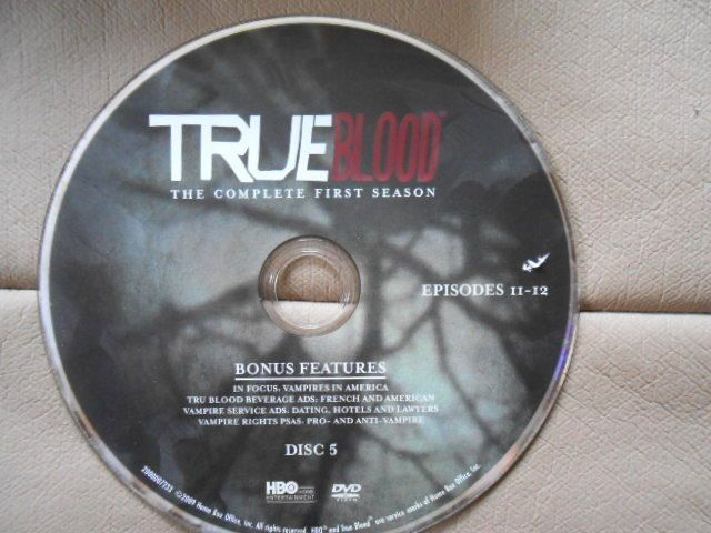 TRUE BLOOD REPLACEMENT DVD True Blood Season 1 (Disc 5 Only) Episodes 11-12