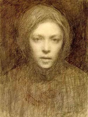 Ellen Thesleff (1869-1954) Selfportrait 1899 - Awards, Recognitions: III prize ducats competition in 1892; 1900 bronze medal at the Paris Exposition, ...., Pro Finlandia 1951, the State pension artist. Thesleff got the home in Artist's home studio Lallukka Helsinki in 1933.