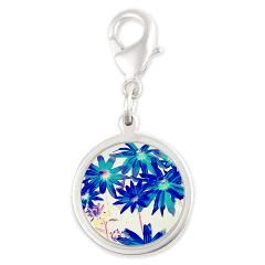 Blue flowers Charms