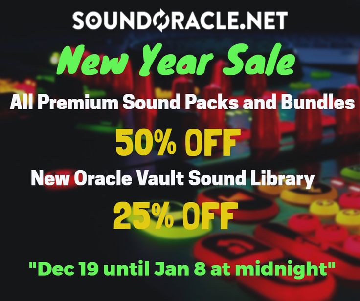 #SoundOracle Xmas   New Year Sale offering 50% discount on all #soundlibraries  #samplepacks --> GET DEAL AT: Soundoracle.net