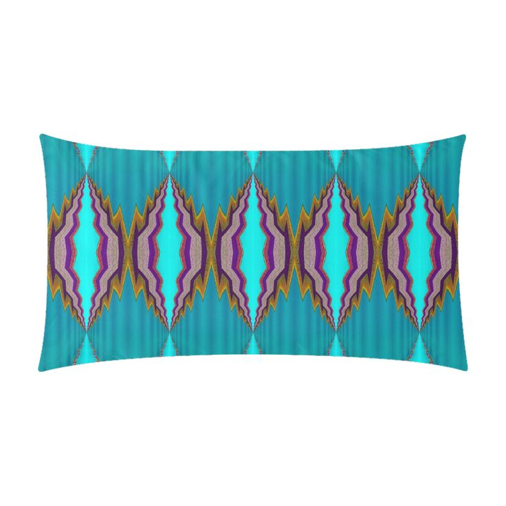 "Rectangle pillow case light blue pattern-annabellerockz Rectangle Pillow Case 20""x36"""