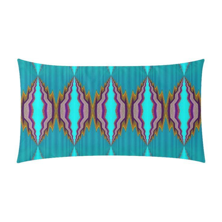 """Rectangle pillow case light blue pattern-annabellerockz Rectangle Pillow Case 20""""x36"""""""