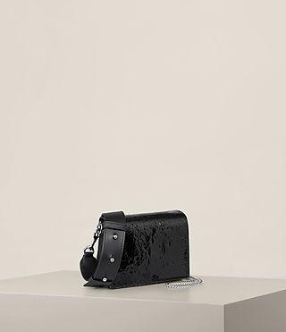 Women's Zep Shoulder Bag (SHINY BLACK) - Image 7