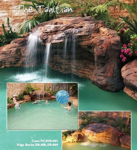 Massive Cave Waterfalls For Larger Inground Swimming Pools The Tahitian Pool Waterfalls Comes