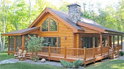 Timber Wolf Construction - Custom Log Home Builder, Minocqua Wisconsin building contractor services include remodels, additions, garages, decks, kitchen and bath, fireplaces