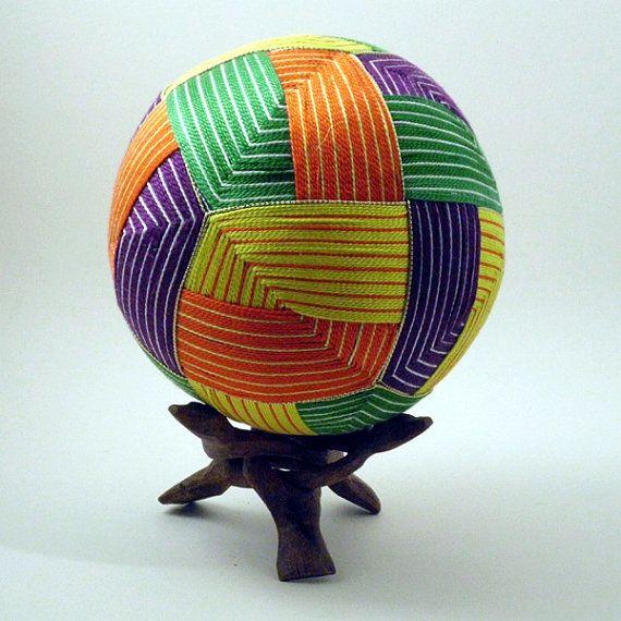 Japanese Temari Ball  Origami Design by NavAndFets on Etsy