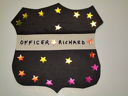 Community Helpers Police Offer Badge