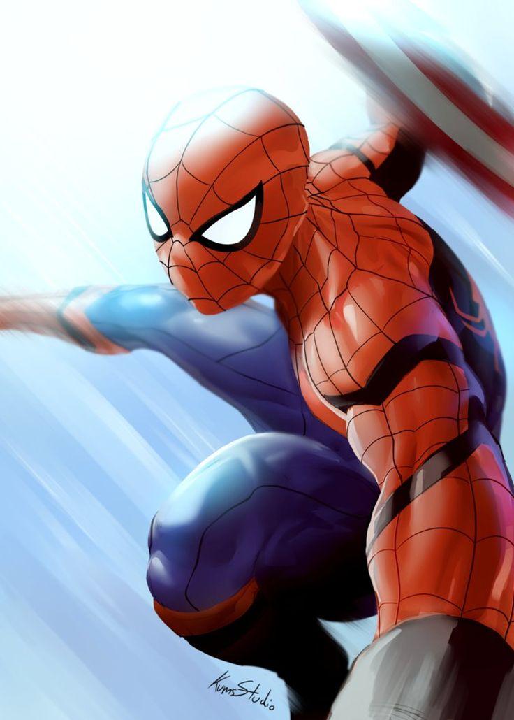 Spiderman in Captain america civil war by Kumsmkii