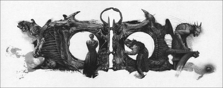 """Illustration by Ukraine-based illustrator Vladislav Yerko for """"Hamlet, prince of Denmark"""" by William Shakespeare"""