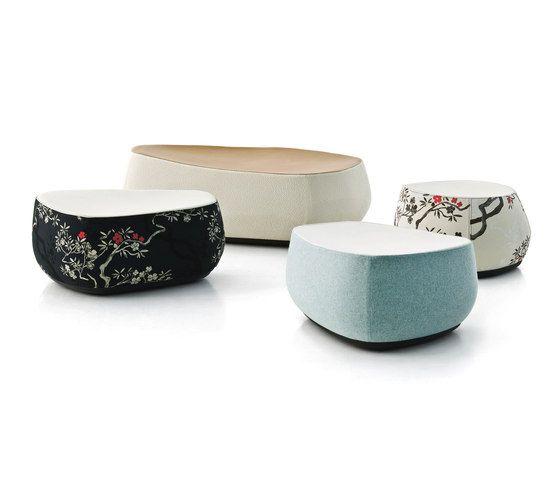 the fabrics of moroso patricia urquiola poufs and archi. Black Bedroom Furniture Sets. Home Design Ideas
