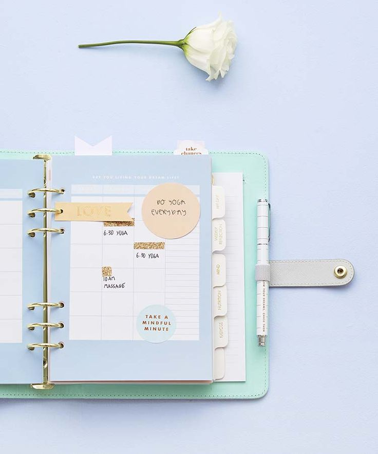 How to organise your kikki.K Wellness Planner