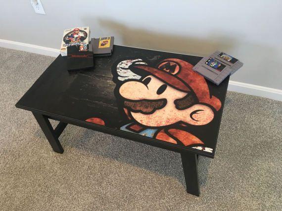 Nintendo Super Mario Retro Video Game Coffee Table