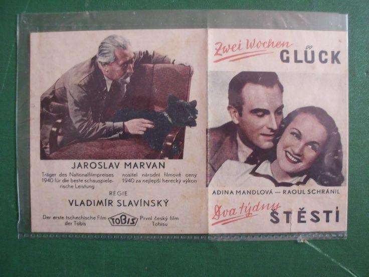 """29. reklama-kalendář z roku 1941 na film """"Dva týdny štěstí"""" Adina Mandlová, Jaroslav Marvan, Raul Schránil"""