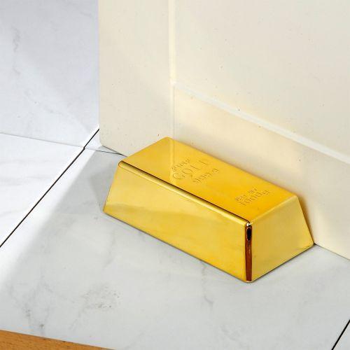 Zuviel Bling Bling gibt´s nicht - daher liegt dieser Goldbarren Türstopper voll im Trend! #gold #goldbarren