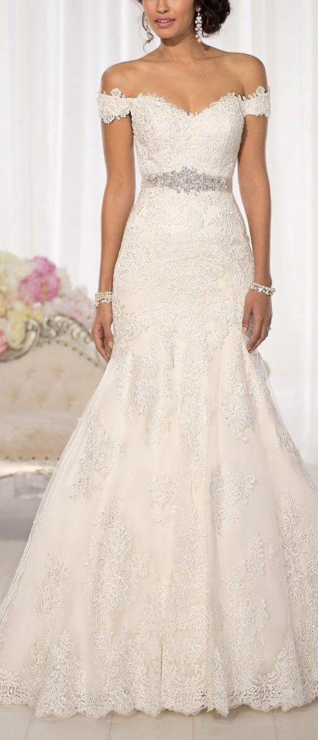 Best 25 lace wedding gowns ideas on pinterest lace for Cute white dresses for wedding
