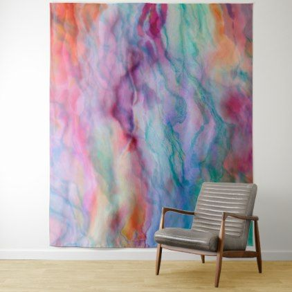 Colorful Flowing Colors Abstract Background Tapestry - elegant gifts gift ideas custom presents