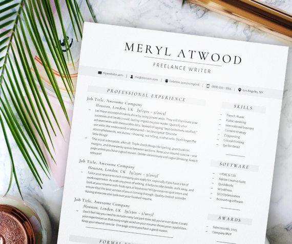 26 best Careerist Design Co Resume Templates images on Pinterest - modern professional resume templates