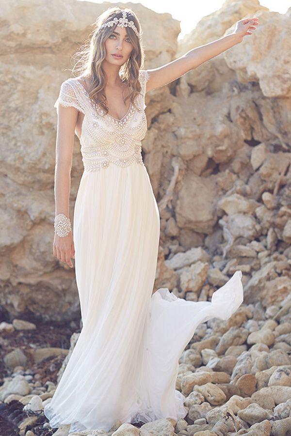 Anna Campbell vestidos de novia en Madrid.