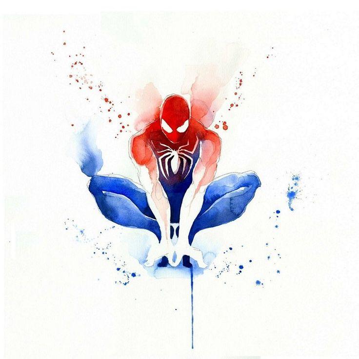 A francesa Clémentine, que assina suas obras como Blule, domina uma técnica de pintura bem antiga: a aquarela. A artista dá forma a vários heróis conhecidos, como Batman, Capitão América, Mulher Maravilha e até Mario Bros.
