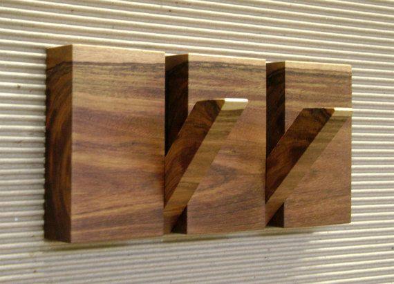 Wall coat hanger 2 hooks coat hanger two by HechoEnCasaTaller